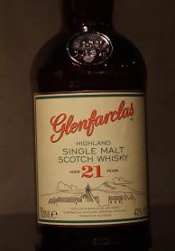 スコッチウイスキーシングルモルト、グレンファークラス21年のエチケット画像